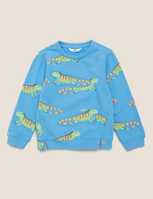 Pure Cotton Iguana Print Sweatshirt (2-7 Yrs)