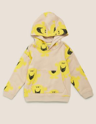 Cotton Mr Happy™ Print Hoodie (2-7 Yrs)