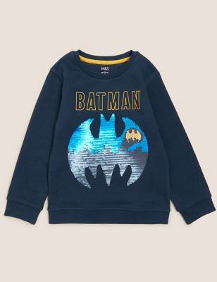 Cotton Batman™ Reversible Sequin Sweatshirt (2-7 Yrs)