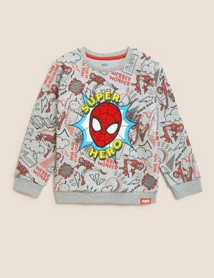 Cotton Spider-Man™ Sweatshirt (2-7 Yrs)