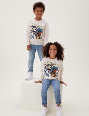 Cotton Rich Tom & Jerry™ Sweatshirt (2-7 Yrs)
