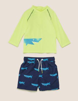 2pc Shark Swim Set (2-7 Yrs)