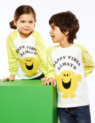 Pure Cotton Mr Happy™ Top (2-7 Yrs)