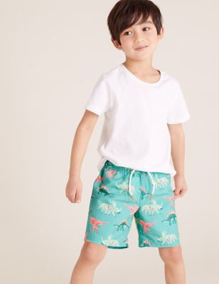 Dinosaur All Over Print Swim Shorts (2-7 Yrs)