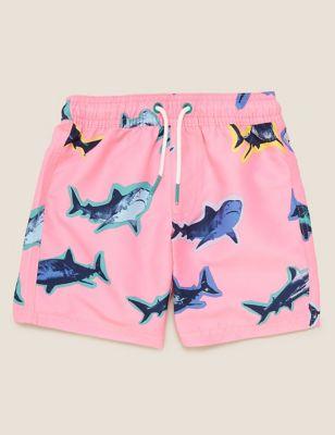 Shark Print Swim Shorts (2-7 Yrs)