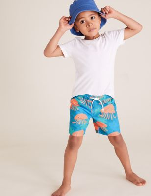 Jelly Fish All Over Print Swim Shorts (2-7 Yrs)