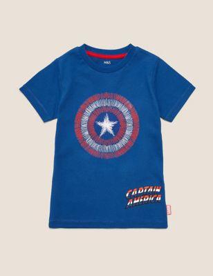 Pure Cotton Captain America™ Shield T-Shirt (2-7 Yrs)
