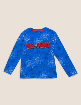 Pure Cotton Tom and Jerry™ Top (2-7 Yrs)