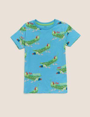 Organic Cotton Grasshopper Print T-Shirt (2-7 Yrs)