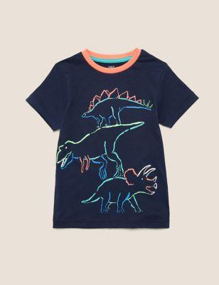 Organic Cotton Dinosaur T-Shirt (2-7 Yrs)