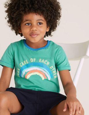 Organic Cotton Rainbow T-Shirt (2-7 Yrs)