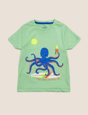 Organic Cotton Octopus T-Shirt (2-7 Yrs)