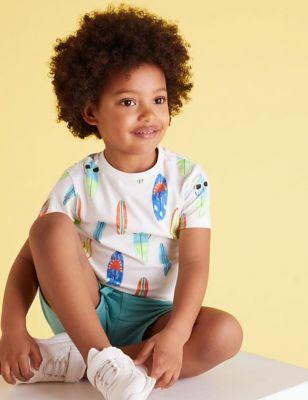 Pure Organic Cotton Surfboard T-Shirt (2-7 Yrs)