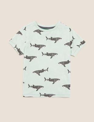 Pure Cotton Shark T-Shirt (2-7 Yrs)