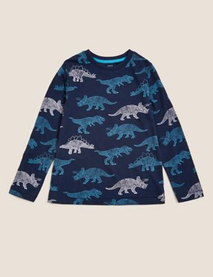 Pure Cotton Dinosaur Top (2-7 Yrs)