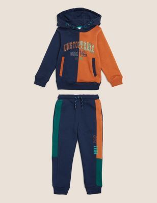 2pc Cotton Hooded Top & Bottom Outfit (2-7 Yrs)