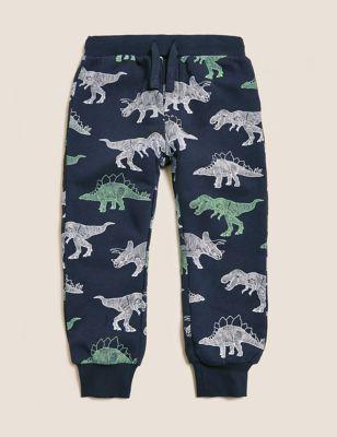 Cotton Dinosaur Print Joggers (2-7 Yrs)