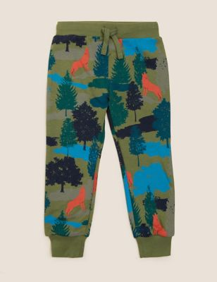 Cotton Forest Print Joggers (2-7 Yrs)