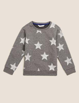 Organic Cotton Star Sweatshirt (2-7 Yrs)