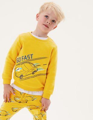 Cotton Car Sweatshirt (2-7 Yrs)