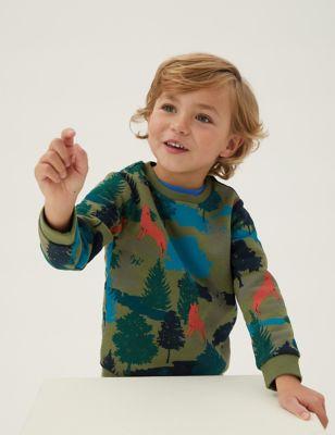 Cotton Forest Print Sweatshirt (2-7 Yrs)