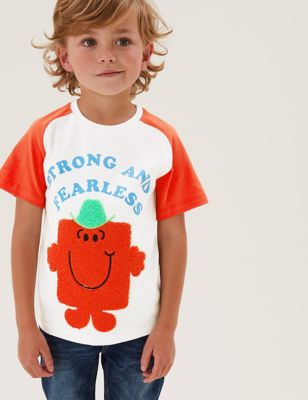 Pure Cotton Mr Strong™ T-Shirt (2-7 Yrs)