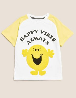 Pure Cotton Mr. Happy™ T-Shirt (2-7 Yrs)