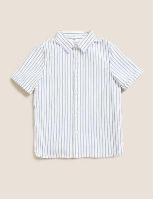 Pure Cotton Striped Oxford Shirt (2-7 Yrs)