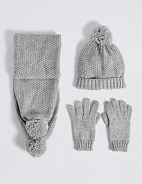 Kids' Hats & Scarves with Gloves Sets , MULTI, catlanding