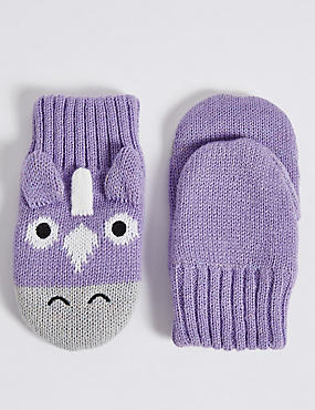 Kids' Unicorn Mittens, MULTI, catlanding