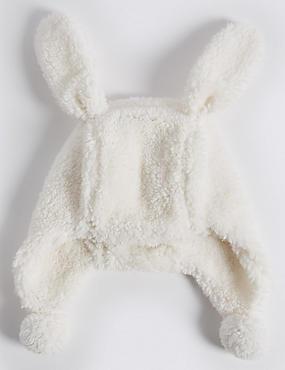 Kids' Bunny Trapper Hat, CREAM, catlanding
