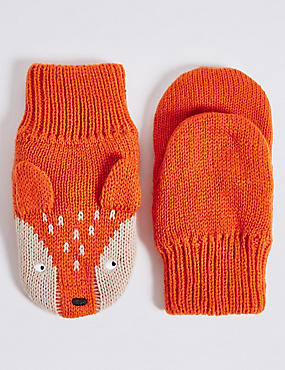 Kids' Fox Mittens, MULTI, catlanding