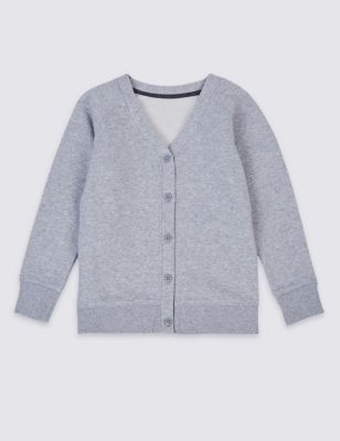 Cotton Sweat School Cardigan with StayNEW™ (2-16 Yrs)