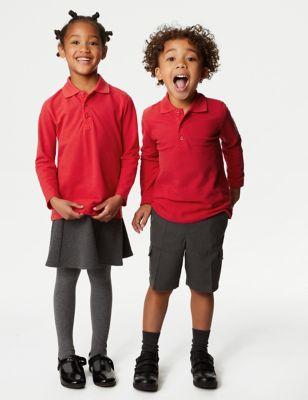 Unisex Long Sleeve Polo Shirt