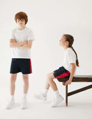 Unisex Pure Cotton Sports Shorts (2-16 Yrs)