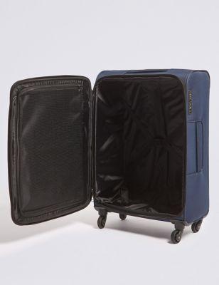 Two Tone 4 Wheel Soft Medium Suitcase