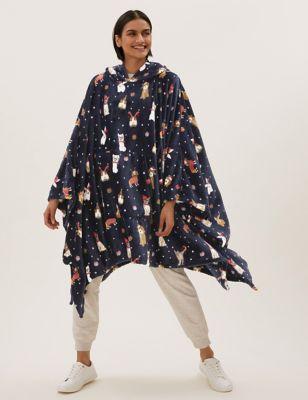 Adults' Santa Paws Hooded Blanket
