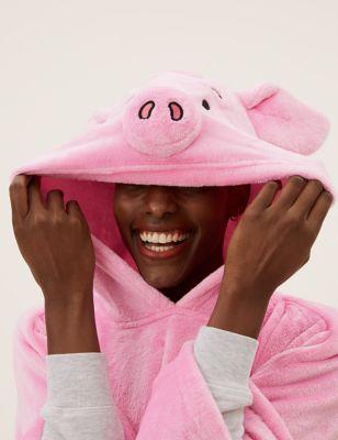 Adults' Fleece Percy Pig™ Hooded Blanket