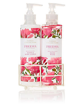 Freesia Hand Wash & Lotion Set, , catlanding