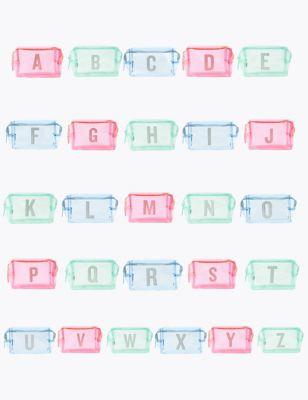 Clear Alphabet Make-Up Bag