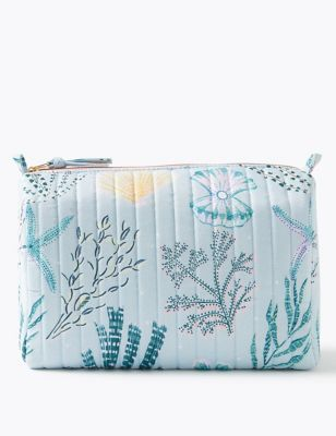 Ocean Print Make-Up Wash Bag