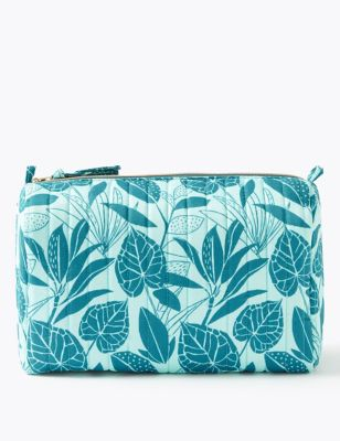 Leaf Print Make-Up Wash Bag