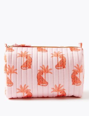 Tiger Print Make-Up Wash Bag