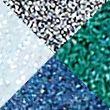 Glitter-y Eye Quad - blue