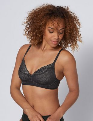 Fit Smart Lace Non Wired Plunge Bra