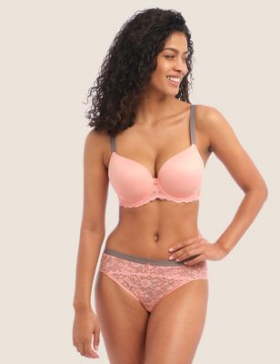 Offbeat Underwired Moulded Demi T-Shirt Bra D-HH