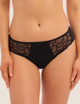 Ana Embroidered Bikini Knickers