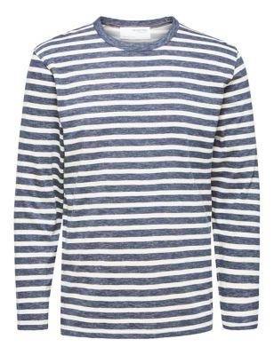Organic Cotton Striped Long Sleeve T-Shirt