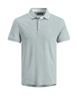 Slim Fit Pure Cotton Tipped Polo Shirt
