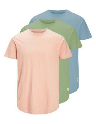 3 Pack Organic Cotton Crew Neck T-Shirts